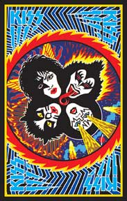 Kiss Black Light 24In X 36In Poster