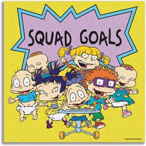 Rugrats Squad Goals 12In X 12In Canvas Wall Art