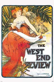 Mucha - West End Review 24In X 36In Poster