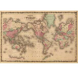 Old World Map 24In X 36In Poster