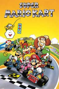 Super Mario Kart - Retro 24In X 36In Poster