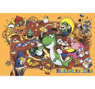 Super Mario World 24In X 36In Poster