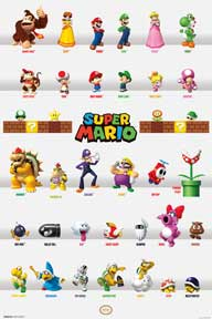 Mario - Characters 24In X 36In Poster