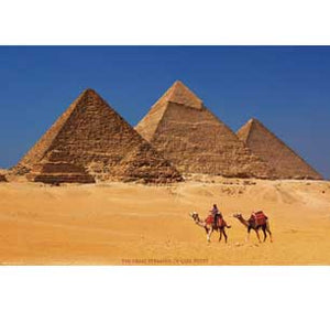 Pyramids Of Giza Egypt 24In X 36In Poster