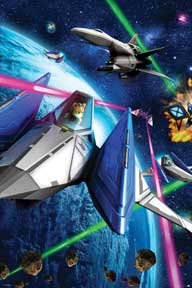 Star Fox 64 - Space Battle 24In X 36In Poster