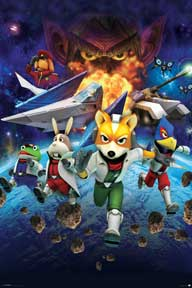 Star Fox 64 - Characters 24In X 36In Poster