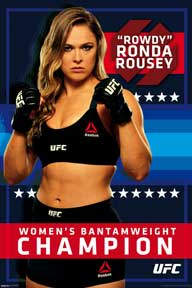Ufc - Ronda Rousey - Reebok 24In X 36In Poster