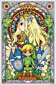 Zelda - Stained Glass 24In X 36In Poster