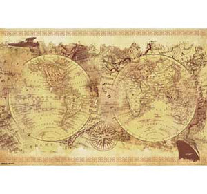 World Map - Vintage Collage 24In X 36In Poster