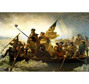 Washington Crossing The Delawa 24In X 36In Poster