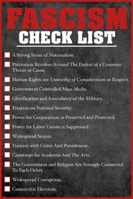 Facism Check List 24In X 36In Poster