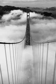 Misty Morning - Golden Gate Br 24In X 36In Poster