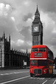 London - Red Bus 24In X 36In Poster