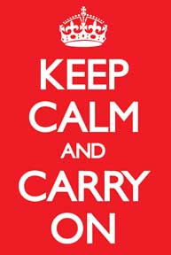 Keep Calm & Carry On - Red 24In X 36In Poster