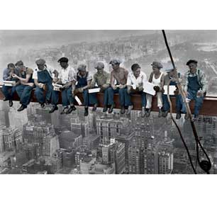 Lunch On A Skyscraper - Color 24In X 36In Poster