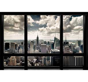 New York Window 24In X 36In Poster