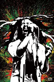 Bob Marley - Paint Splash 24In X 36In Poster