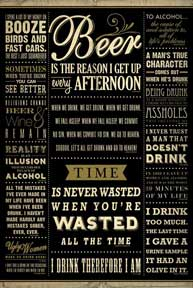 Drinking Quotes 24In X 36In Poster