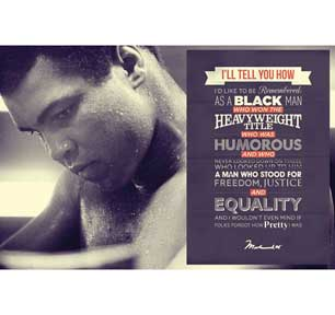 Ali - Quote 24In X 36In Poster