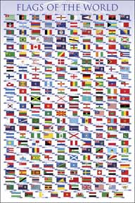 Flags Of The World 24In X 36In Poster