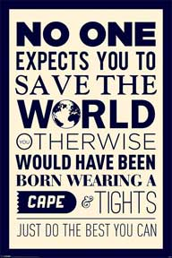 Save The World 24In X 36In Poster