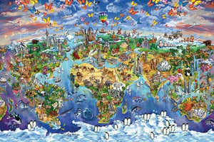 World Wonders Map - Maria Rabi 24In X 36In Poster