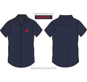 Logo And Collar Hit Gingham Button Down Shirt