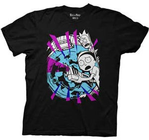 Morty W/Portal And Gun Mens Lightweight T-Shirt