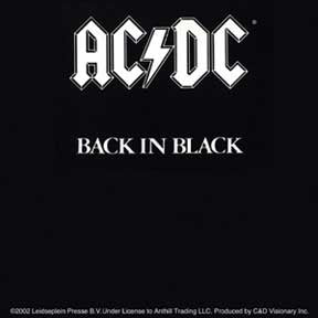 Ac/Dc Back In Black Sticker