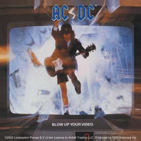 Ac/Dc Blow Up Video Sticker