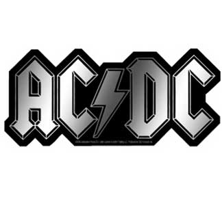 Ac/Dc Logo Chrome Sticker