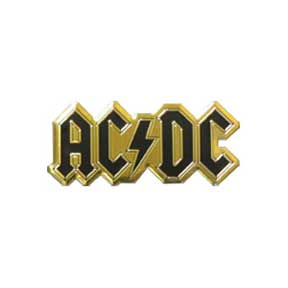 Acdc Logo 6Cm Gold Metal Sticker