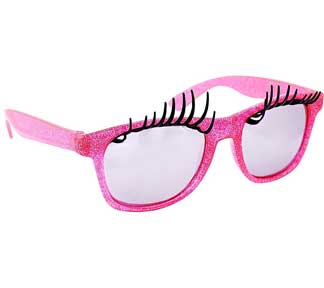 Pink Frame Lashes Adult Shades