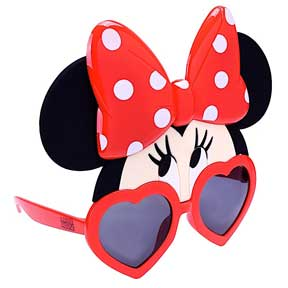 Minnie Mouse Eyes Heart Frame Adult Shades