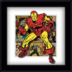 Iron Man - Panels 5D Framed 3D Lenticular