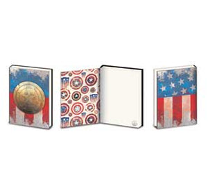 Captain America - Metal Shield Metal Embellishment A5 Premium Journal