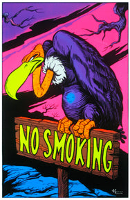 No Smoking Black Light 24In X 36In Poster