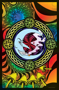 Reefer Moon Black Light 24In X 36In Poster