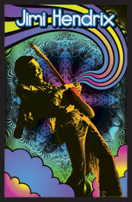 Guitar Solo Black Light 24In X 36In Poster