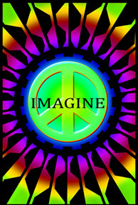 Imagine Black Light 24In X 36In Poster