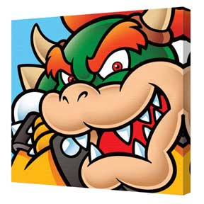 Super Mario - Bowser Canvas