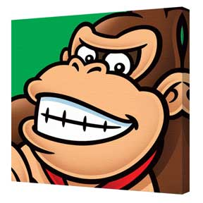 Super Mario - Donkey Kong Canvas