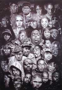 Hip Hop 22In X 34In Poster