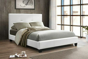 IF 130W White Platform Bed [NEW]