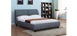 IF 193-G Grey Fabric Platform Bed [NEW]