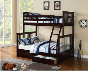 IF 122-E Single/Double Bunk Bed Espresso [NEW]