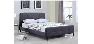 IF 5400 Grey Fabric Platform Bed [NEW]