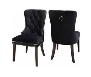 IF C-1221 Dining Chair Black Velvet [NEW]