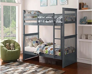 IF 121-G Single/Single Bunk Bed Grey [NEW]