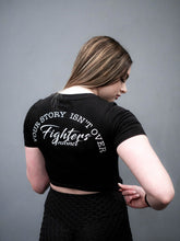 Load image into Gallery viewer, Ladies Black Crop Top 'Your Story Isn't Over'